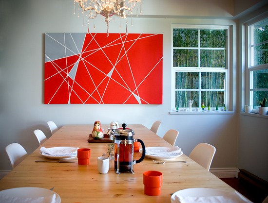 Weekend art project the new domestic diy geometric art diy modern painting solutioingenieria Gallery