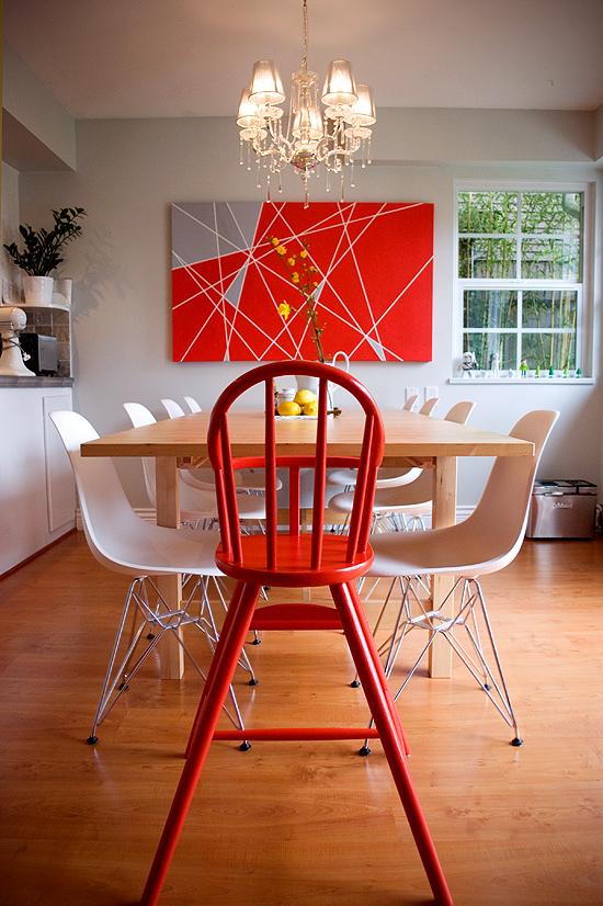 Red High Chair DIY