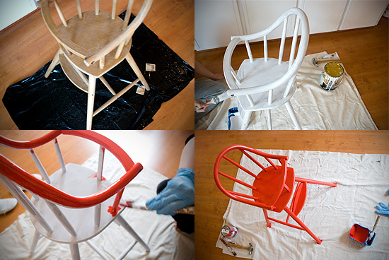 Peter Hoang & Nerissa Goco : Red High Chair