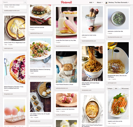 Food board on pinterest the new domestic for Cuisine pinterest