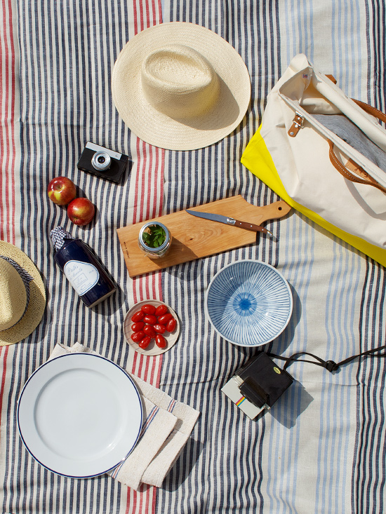 Peter Hoang & Nerissa Goco : Striped Picnic Blankets Now in the Shop!