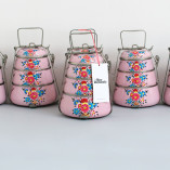 Handpainted Tiffin Carrier, Rose